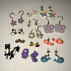 Flowers and Animals Earrings